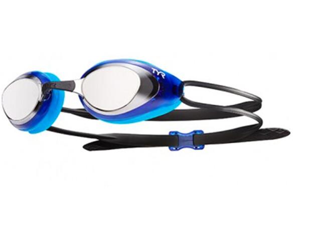 TYR Black Hawk Racing Mirrored duikbrillen Heren blauw